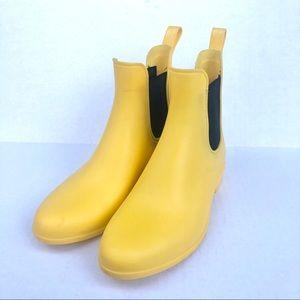 J. Crew Classic Yellow Panel Chelsea Rain Boots